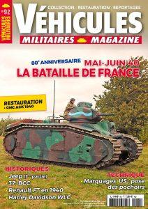 Couverture Véhicules militaires n°92 : La Bataille de France Mai-Juin 1940
